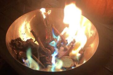 fuoco colorato