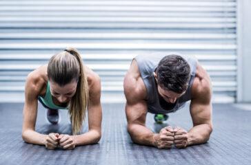 coppia che si allena