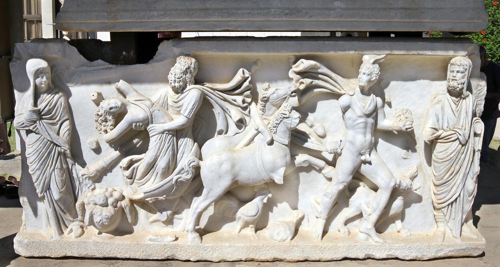 bassorilievo con rapimento di Persefone