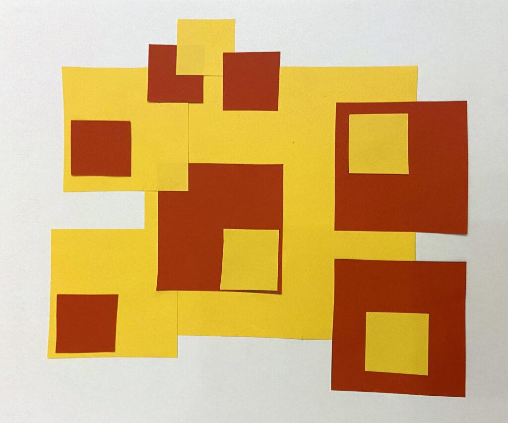 cartoncini geometrici composizione